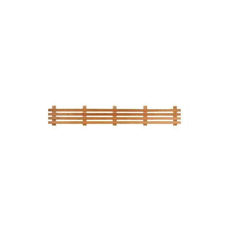Ryggstöd, armstöd och raster Raster standard, värmebehandlad asp 2,1 m