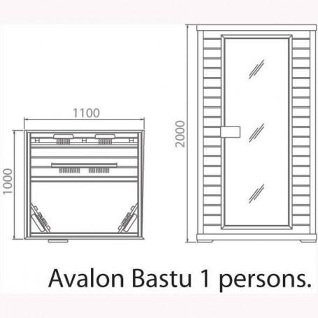 Utgående produkter   Bastu Avalon 1 persons ceder
