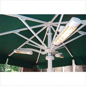 Heatlight Parasoll arm Vit