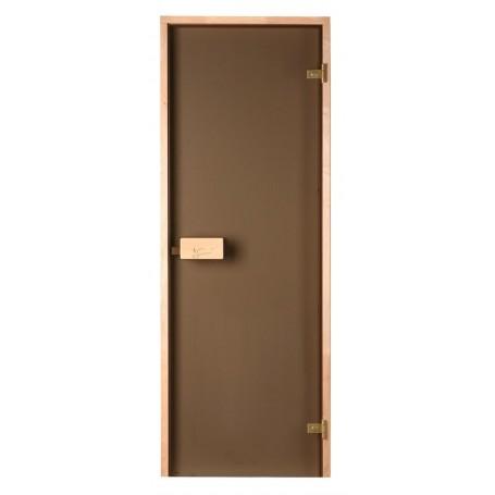 Bastudörrar storlek 7x20   Bastudörr 7x20 Classic med bronsfärgat glas och furukarm   Bronsfärgat glasKarm i furu