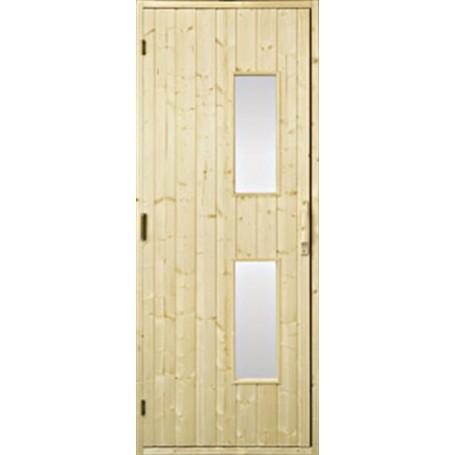 Bastudörrar i trä   Bastudörr 7x21 trä, klarglas   GranKlarglas