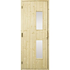 Bastudörrar i trä   Bastudörr 8x19 trä, klarglas   GranKlarglas