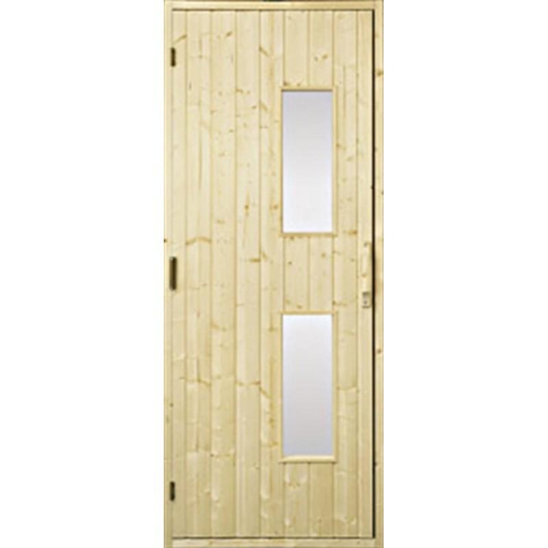 Bastudörrar i trä Bastudörr 8x20 trä, klarglas GranKlarglas