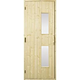 Bastudörrar i trä   Bastudörr 9x20 trä, klarglas   GranKlarglas