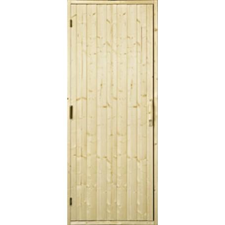 Bastudörrar i trä   Bastudörr trä, 7x20 utan fönster   Gran