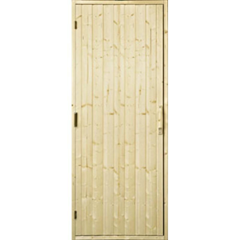 Bastudörrar i trä   Bastudörr trä, 9x21 utan fönster   Gran
