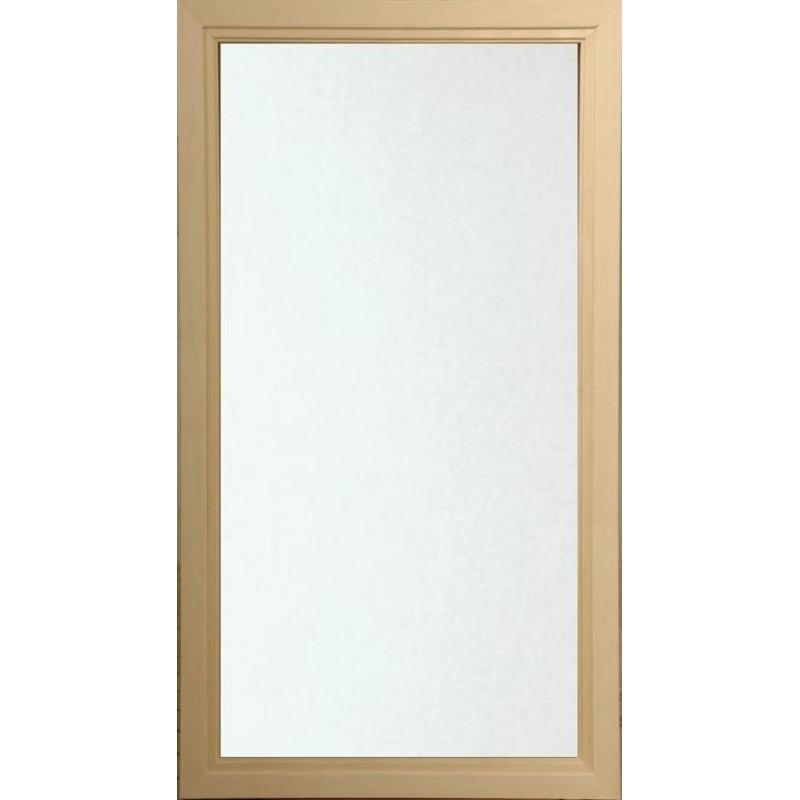 Bastufönster storlek 5x9   Bastufönster 5x9 Klart Glas med Asp-karm