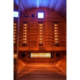 Bastutunna i Cederträ med infraröd värme  den modernaste tekniken av bastuvärme
