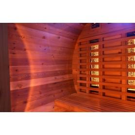 Bastutunna i Cederträ med infraröd värme helt klart köpvärd