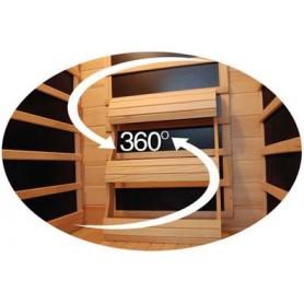 Hörnbastu Infraröd   Apollon Turmalin Corner Ceder   Infra-bastu för 4 personerStorlek:1500x1500 x 1900 mmTräslag:CederVärm