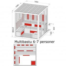 Utgående produkter   Multibastu för 6-7 personer