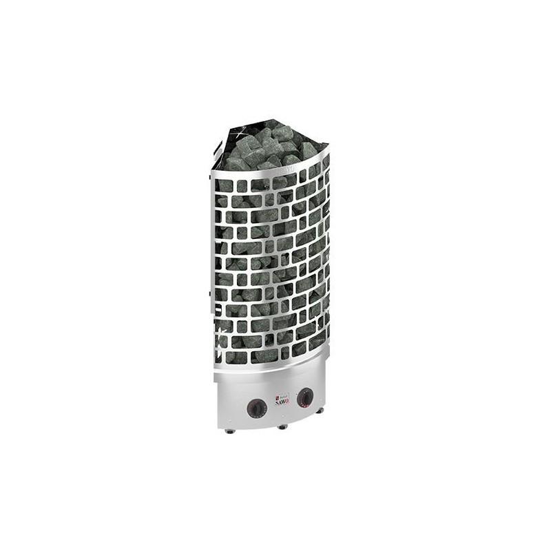 Bastuaggregat Sawo Aries NB 9,0kW, Hörn, inbyggd styrenhet