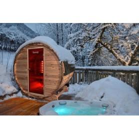 Bastutunna i Cederträ med infraröd värme  fungerar även på vintern