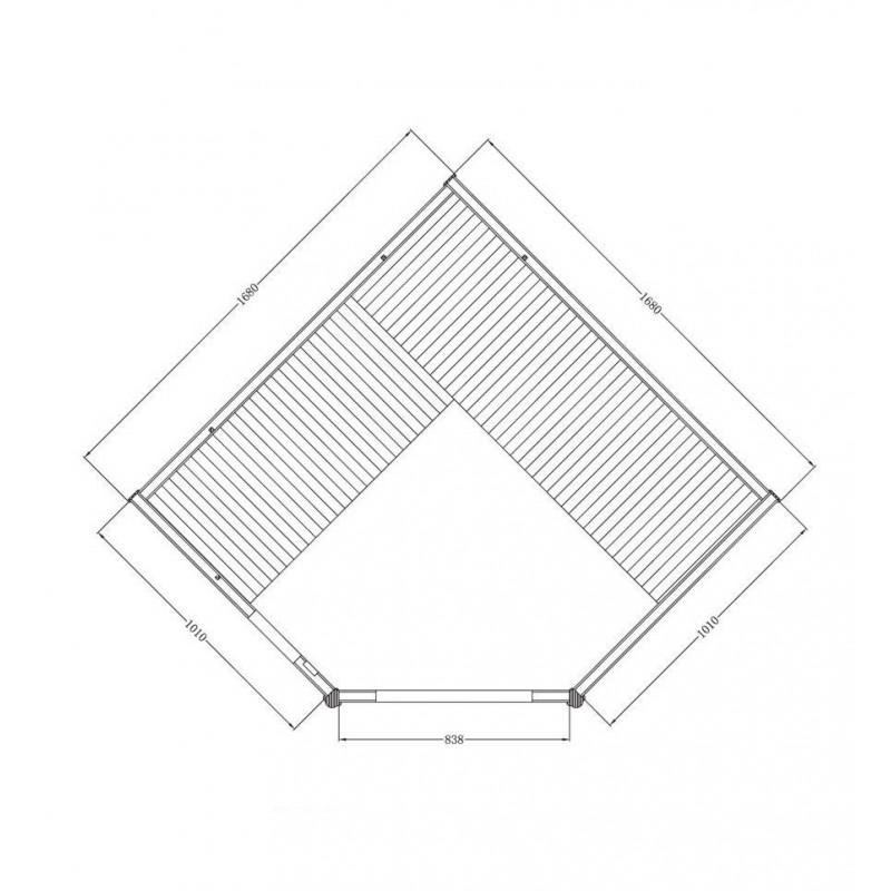 Utgående produkter Cornette Grand Lux hörnbastu