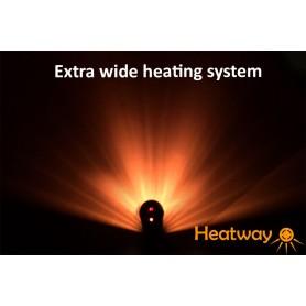 Terrassvärmare HeatWay Cylindro bredare värmestrålning