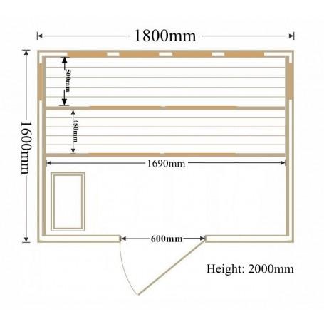 Multibastu för 4-5  personer med Sawo aggregat och Vitaelight