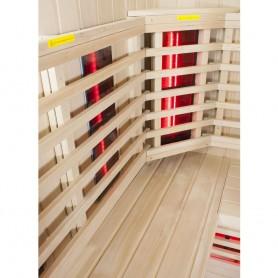 Bastu Infraröd för 3-4 pers   Sunway Vänster   Infra-bastu för 3 personerStorlek:1600x1120 x 1980 mmTräslag:HemlockVärmesys