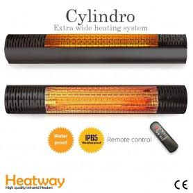 Terrassvärmare HeatWay Cylindro i svart design