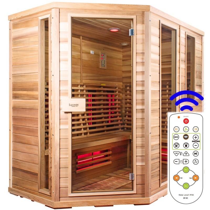 Bastu Infraröd för 5-8 pers Sauna Relax Lux med fjärrkontroll