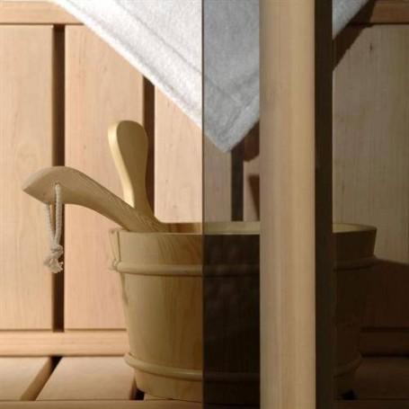 Bastudörrar storlek 7x19   Bastudörr 7x19 Classic med bronsfärgat glas och furukarm